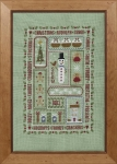 HS Counted Cross Stitch Sampler Kit – Christmas Boxes