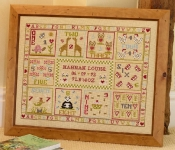 HS Counted Cross Stitch Sampler Kit – Flower & Bee Birth Sampler