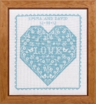 HS Counted Cross Stitch Sampler Kit – Flower & Heart Wedding Sampler