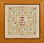 HS Counted Cross Stitch Sampler Kit – Four Hearts Birth Sampler