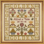 HS Counted Cross Stitch Sampler Kit – Golden Wedding Sampler