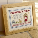 HS Counted Cross Stitch Sampler Kit – Grandad's Shed