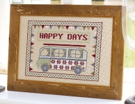 HS Counted Cross Stitch Sampler Kit – Happy Days