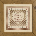 HS Counted Cross Stitch Sampler Kit – Heart Wedding Sampler