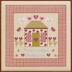 HS Counted Cross Stitch Sampler Kit – Home is Where the Heart Is