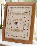 HS Counted Cross Stitch Sampler Kit – Horseshoe Wedding Sampler