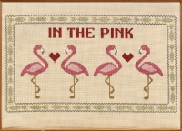 HS Counted Cross Stitch Sampler Kit – In the Pink