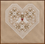 HS Counted Cross Stitch Sampler Kit – Love Birds