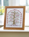 HS Counted Cross Stitch Sampler Kit – My Family Tree