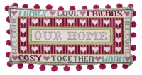 HS Needlepoint/Tapestry Sampler Cushion Kit – Our Home