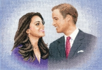 Heritage Cross Stitch Kit - William & Catherine 28#