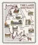 Lake District Map - Classic 14ct Counted Cross Stitch Kit