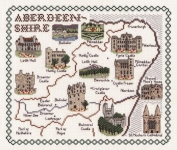 Map & Sights of Aberdeenshire - Classic 14ct Counted Cross Stitch Kit