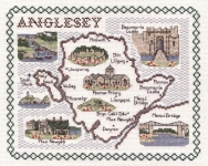 Map & Sights of Anglesey - Classic 14ct Counted Cross Stitch Kit