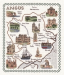 Map & Sights of Angus - Classic 14ct Counted Cross Stitch Kit