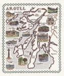 Map & Sights of Argyll - Classic 14ct Counted Cross Stitch Kit