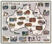 Map & Sights of Australia - Classic 14ct Counted Cross Stitch Kit