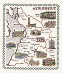 Map & Sights of Ayrshire - Classic 14ct Counted Cross Stitch Kit