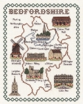 Map & Sights of Bedfordshire - Classic 14ct Counted Cross Stitch Kit