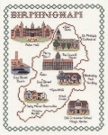 Map & Sights of Birmingham - Classic 14ct Counted Cross Stitch Kit