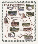 Map & Sights of Breconshire - Classic 14ct Counted Cross Stitch Kit
