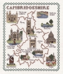 Map & Sights of Cambridgeshire - Classic 14ct Counted Cross Stitch Kit