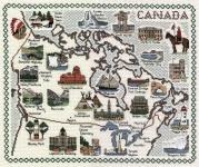 Map & Sights of Canada - Classic 14ct Counted Cross Stitch Kit