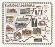 Map & Sights of Cardiganshire - Classic 14ct Counted Cross Stitch Kit