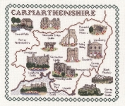 Map & Sights of Carmarthenshire - Classic 14ct Counted Cross Stitch Kit