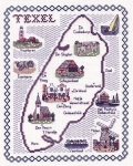Map & Sights of Texel (Holland) - Classic 14ct Counted Cross Stitch Kit