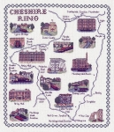 Map & Sights of the Cheshire Ring - Classic 14ct Counted Cross Stitch Kit