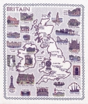 Map of Britain - Classic 14ct Counted Cross Stitch Kit