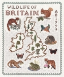 Map of Wildlife in Britain - Classic 14ct Counted Cross Stitch Kit
