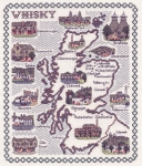 Map of the Scotch Whisky Regions - Classic 14ct Counted Cross Stitch Kit