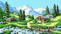 Margot de Paris Tapestry/Needlepoint - Alpine Stream