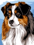 Margot de Paris Tapestry/Needlepoint - Australian Shepherd
