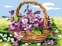 Margot de Paris Tapestry/Needlepoint – Basket of Violets