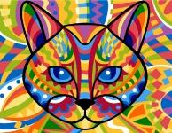 Margot de Paris Tapestry/Needlepoint - Cat (Chat)