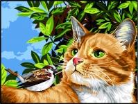 Margot de Paris Tapestry/Needlepoint – Cat and Bird