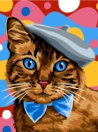 Margot de Paris Tapestry/Needlepoint – Cat with Bow tie & Beret