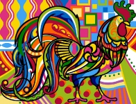 Margot de Paris Tapestry/Needlepoint - Cockerel (Coq)