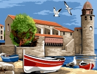 Margot de Paris Tapestry/Needlepoint - Collioure - France