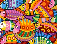 Margot de Paris Tapestry/Needlepoint - Colour Fish