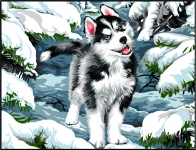 Margot de Paris Tapestry/Needlepoint - Dog in Snow