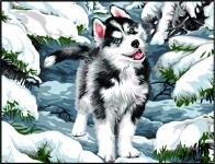 Margot de Paris Tapestry/Needlepoint - Dog in Snow