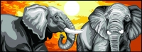 Margot de Paris Tapestry/Needlepoint – Elephants