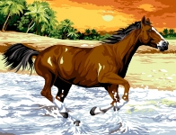 Margot de Paris Tapestry/Needlepoint - Gallop through the Waves