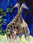 Margot de Paris Tapestry/Needlepoint - Giraffes in Love