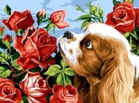 Margot de Paris Tapestry/Needlepoint – King Charles & Roses