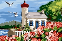 Margot de Paris Tapestry/Needlepoint - Lighthouse